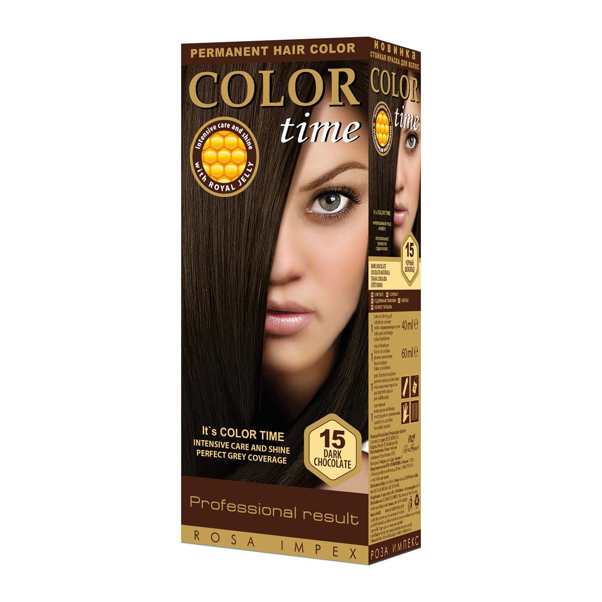 COLOR TIME 15 TAM. ČOKOLADA  boja za kosu