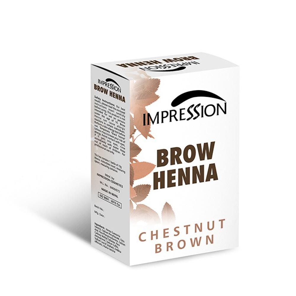 IMPRESSION BROW HENA CHESNUT BROWN 10g