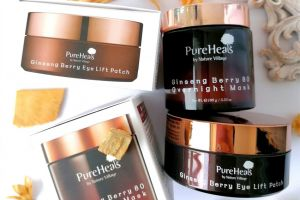 PUREHEALS Ginseng Berry hidrogel maskice i noćna maska