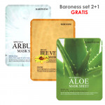 BARONESS SET MASK SHEET bee venom+aloe+arbutin 2+1