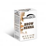 IMPRESSION BROW HENA MEDIUM BROWN 10g