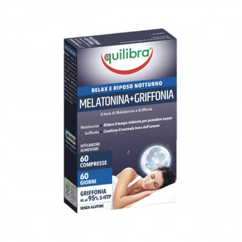 EQ MELATONIN + GRIFFONIA 60 TABLETS
