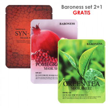BARONESS SET MASK SHEET syn-ake+nar+green tea 2+1