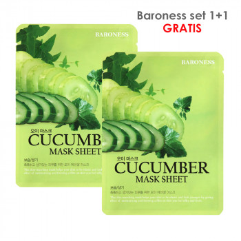 BARONESS SET MASK SHEET 1+1 CUCUMBER