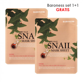 BARONESS SET MASK SHEET 1+1 SNAIL