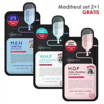 Mediheal Mask Sheet SET 2+1 gratis W.H.P+H.D.P+M.E.N