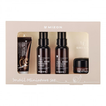 Mizon Snail Miniature Set (Cleanser+Toner+Essence+Cream)
