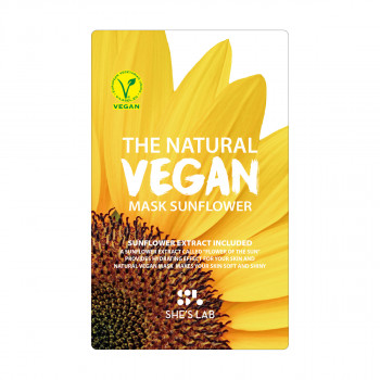 SHE'S LAB THE NATURAL VEGAN MASK SUNFLOWER 20g