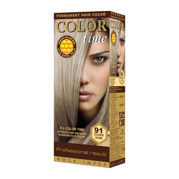 COLOR TIME 91 PLATINASTO PLAVA boja za kosu