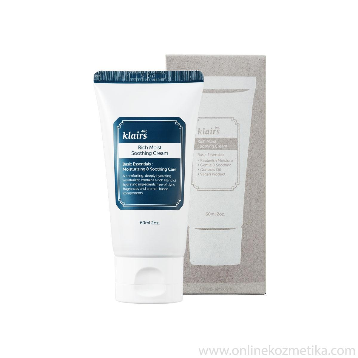 KLAIRS Rich Moist Sooting Cream 60ml