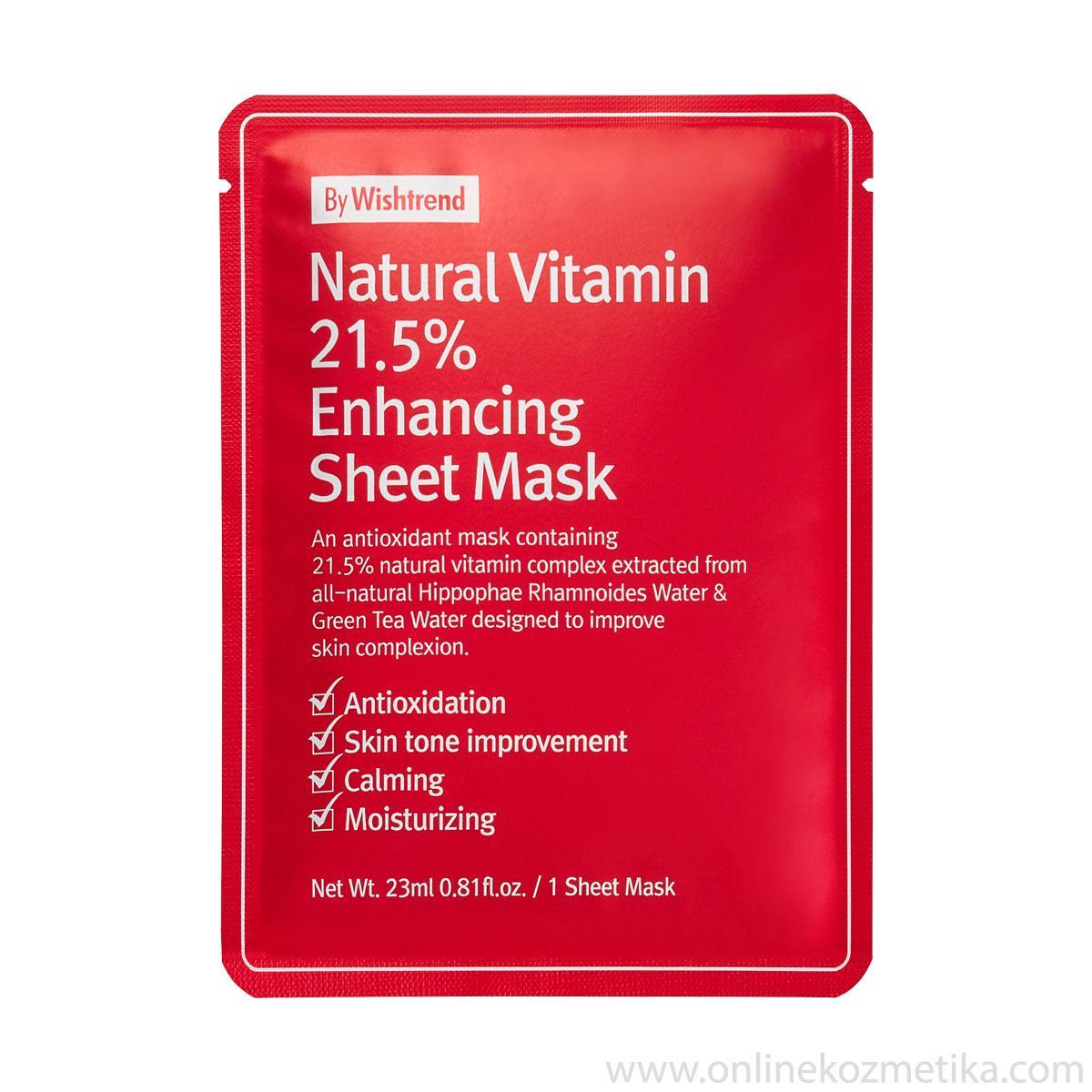 BY WISHTREND NAT VIT 21.5% ENHANCING SHEET MASK
