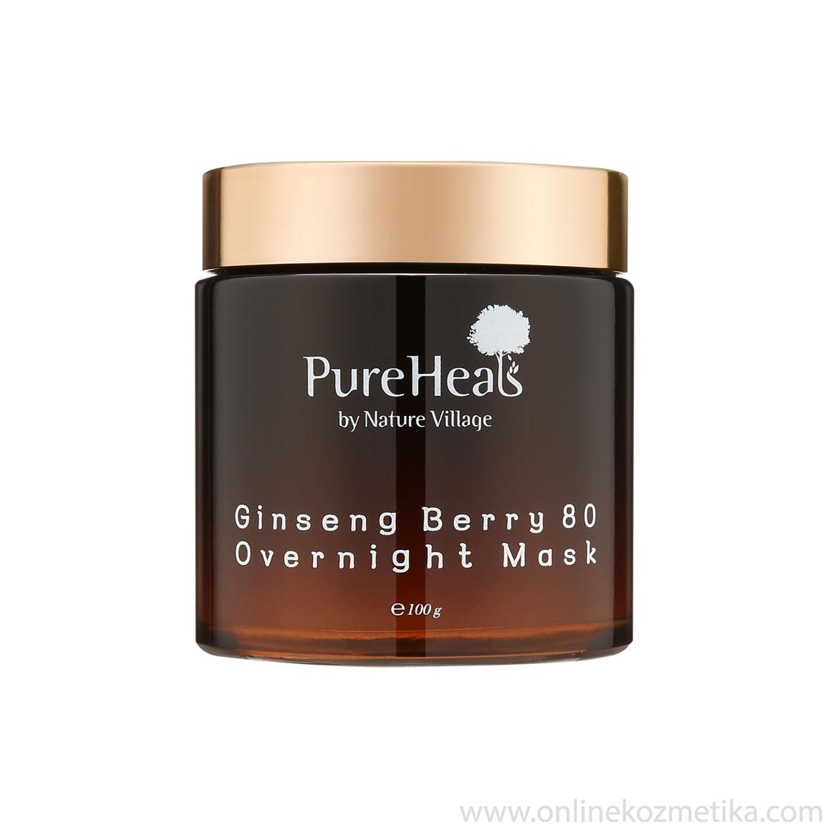Pureheals Ginseng Berry 80 Overnight Mask 100ml