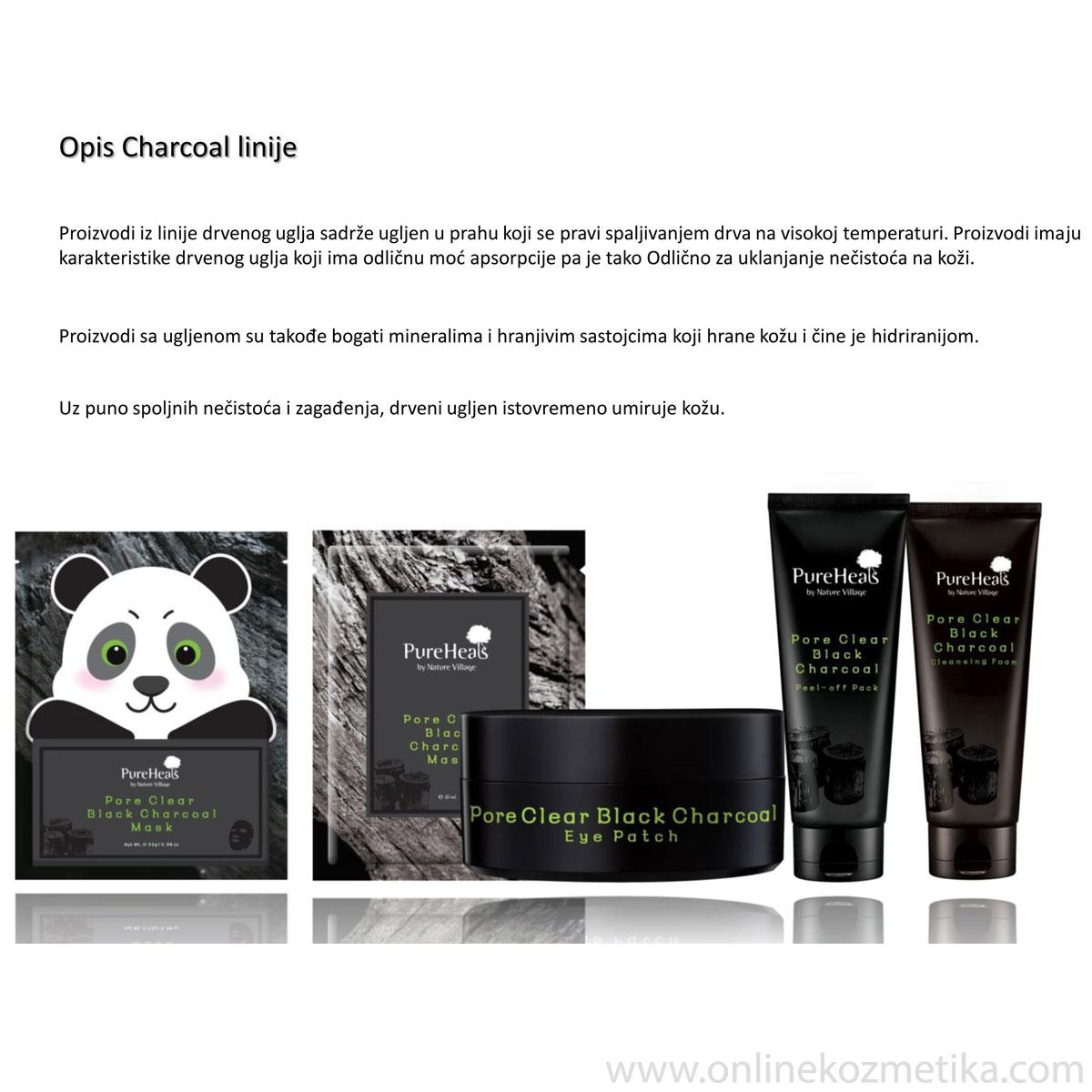 Pureheals Pore Clear Black Charocal Eye Patch 100gr/60kom