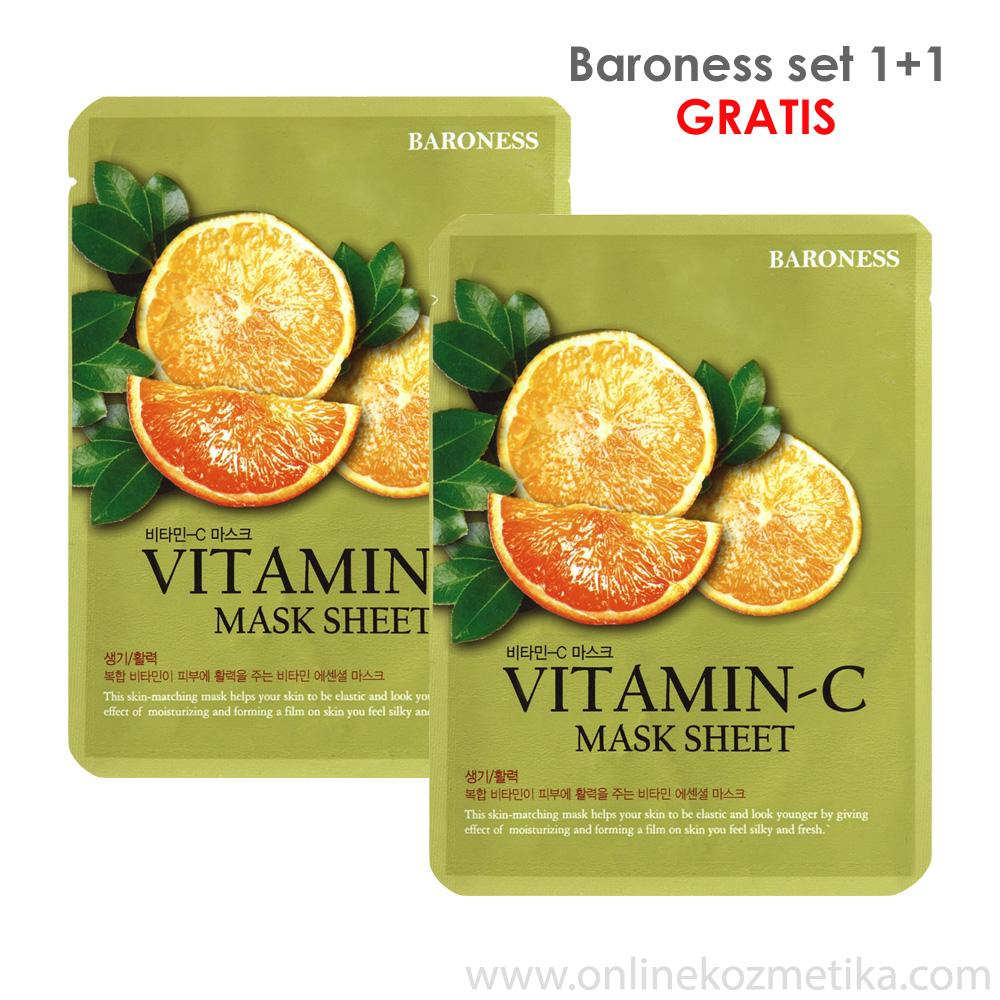 BARONESS SET MASK SHEET 1+1 VITAMIN C